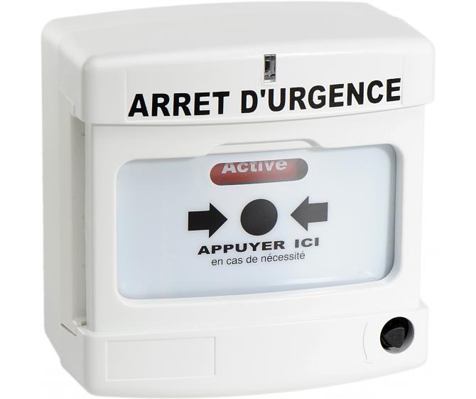 10040 Déclencheur Manuel d'arrêt d'urgence simple contact