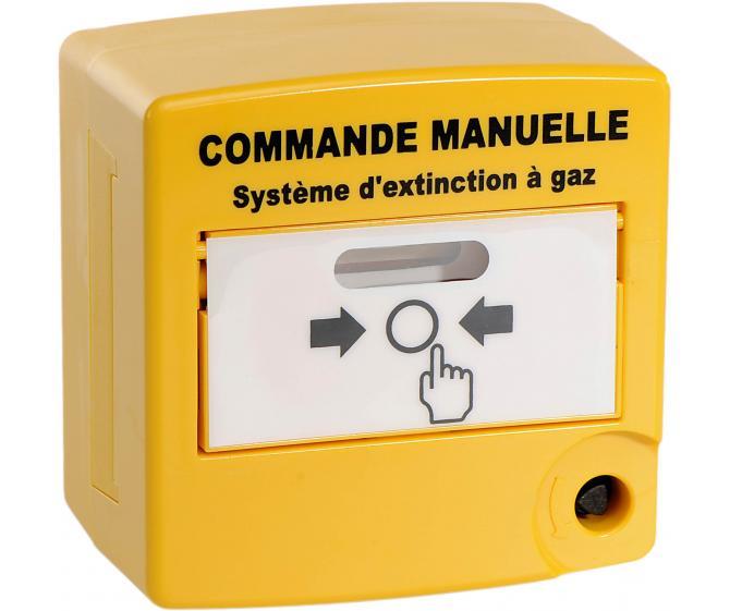 10070 Déclencheur Manuel double action de commande manuelle jaune double contact