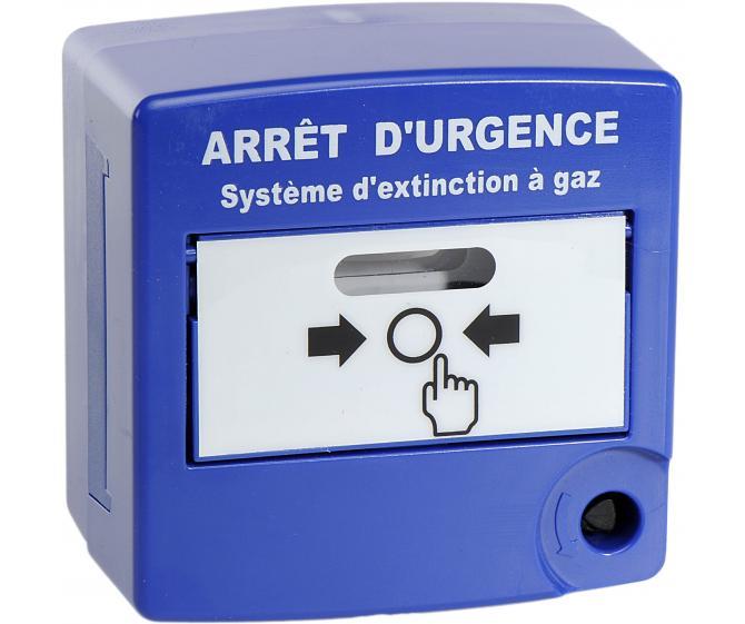 10080 Déclencheur Manuel double action d'arrêt d'urgence bleu double contact