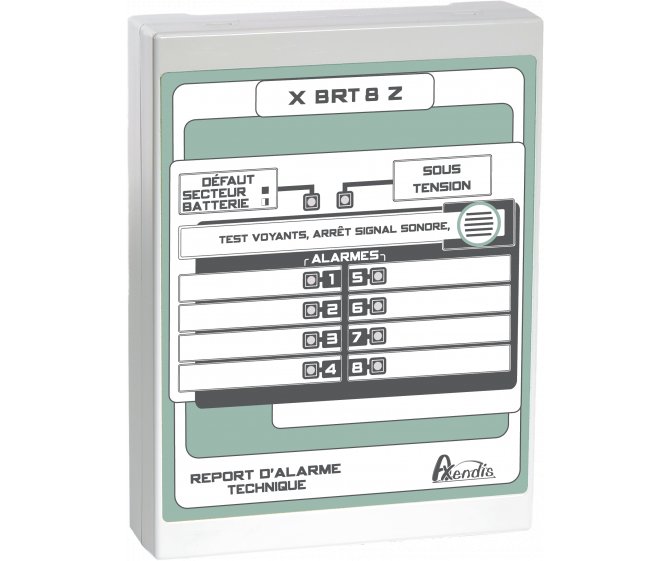 10580 Boitier de report Alarme technique 8 zones