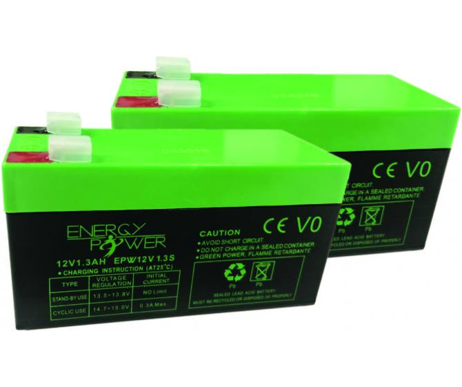 Lot de 2 batteries 12V 1.2 A